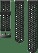 Suunto Athletic 1 24mm Bandje Siliconen Zwart