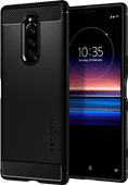 Spigen Rugged Armor Sony Xperia 1 Back Cover Black