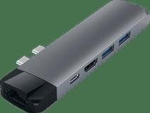 Satechi Type-C Pro Hub Ethernet & 4K HDMI Grijs
