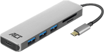 ACT USB-C 4-poorts usb hub met power delivery