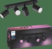 Philips Hue Fugato 4-Spot White & Colour Bluetooth zwart