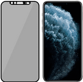 PanzerGlass Privacy Camslider Apple iPhone X / Xs / 11 Pro Screenprotector Glas zwart