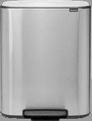 Brabantia Bo Pedal Bin 60 liter Stainless Steel Fingerprint proof