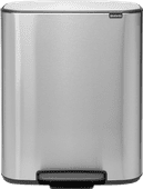 Brabantia Bo Pedal Bin 2 x 30 Liter Stainless Steel Fingerprint proof