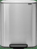 Brabantia Bo Pedal Bin 2 x 30 Liter RVS Fingerprint proof