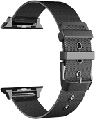 Just in Case Apple Watch 38/40 mm Mesh Bandje Zwart