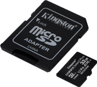 Kingston microSDHC Canvas Select Plus 32GB 100MB/s + SD Adapter