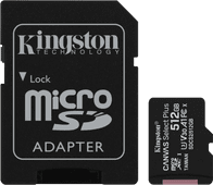 Kingston microSDXC Canvas Select Plus 512GB 100MB/s + SD Adapter