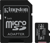 Kingston microSDXC Canvas Select Plus 64GB 100MB/s + SD Adapter
