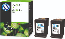 HP 301XL Cartridges Black Duo Pack