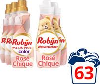 Robijn Perfecte Match Color Rosé Chique Wasmiddel en Wasverzachter 3 x 21 + 2 x 30 wasbeur