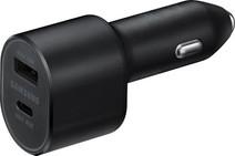Samsung Autolader Zonder Kabel 2 Usb Poorten 45W Zwart