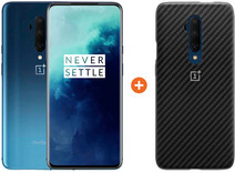 OnePlus 7T Pro 256GB Blue + OnePlus Carbon Bumper Case Back Cover Black