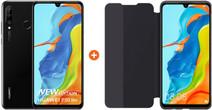 Huawei P30 Lite New Edition 256GB Zwart + Huawei View Flip Cover Book Case Zwart