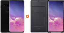 Samsung Galaxy S10 128GB Black + Samsung LED View Cover Book Case Black