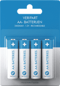 Veripart Rechargeable NiMH AA Batteries 4 units