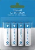 Veripart Oplaadbare NiMH AA-batterijen 4 stuks
