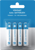 Veripart Rechargeable NiMH AAA Batteries 4 units