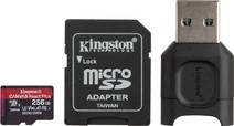 Kingston 256GB microSDXC React Plus SDCR2 met Adapter + MLPM
