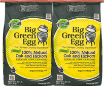 Big Green Egg Premium Natural Houtskool 9 kg Duo Pack