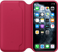 Apple iPhone 11 Pro Leather Folio Framboos