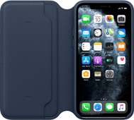 Apple iPhone 11 Pro Leather Folio Diepzeeblauw