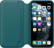 Apple iPhone 11 Pro Leather Folio Pauwenblauw