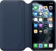 Apple iPhone 11 Pro Max Leather Folio Diepzeeblauw