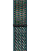 Apple Watch 38/40 mm Nylon Sport Loop Nike Horlogeband Hyper Crimson//Neptune Green