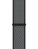 Apple Watch 42/44 mm Nylon Sport Loop Nike Horlogeband World Indigo/Lime Blast