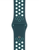Apple Watch 42/44 mm Siliconen Horlogeband Nike Sport Midnight Turquoise/Aurora Green
