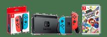 Nintendo Switch Rood/Blauw Familie Bundel