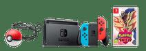 Nintendo Switch Rood/Blauw Pokémon Shield Bundel