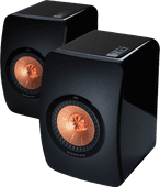 KEF LS50 Hoogglans Zwart (per paar)