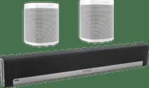 Sonos Playbar 5.0 + One (x2) Wit