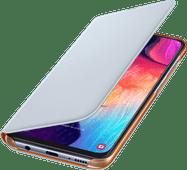 Samsung Galaxy A50 Wallet Book Case Wit/Oranje