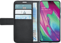 Azuri Wallet Magnet Samsung Galaxy A40 Book Case Black