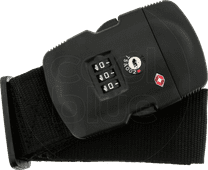 SININ suitcase belt with TSA lock black
