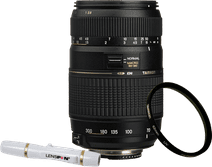 Tamron AF-D 70-300mm f/4.0-5.6 Di LD Nikon FX + UV-Filter 62mm + Elite Lenspen
