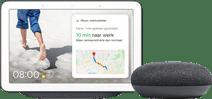 Google Nest Hub Charcoal + Google Nest Mini Gray