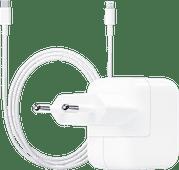 Apple Usb C Oplader 30W + Lightning naar Usb C Kabel 1m