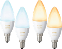 Philips Hue White Ambiance E14 4-Pack