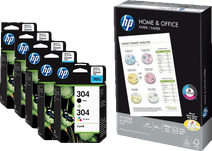 HP 304 Cartridges Combo Pack + 500 sheets of A4 paper