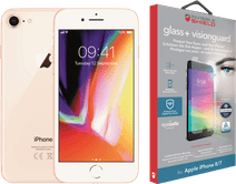 Apple iPhone 8 64 GB Goud + InvisibleShield Glass+ VisionGuard screenprotector
