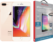 Apple iPhone 8 Plus 64 GB Goud +  InvisibleShield Glass+ VisionGuard Screenprotector