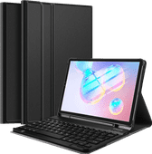 Just in Case Samsung Galaxy Tab S6 Premium Toetsenbord Hoes QWERTY Zwart