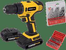 Powerplus POWX0069LI + Kreator Drill Set and Drill Bit Set
