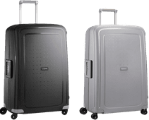 Samsonite S'Cure Spinner 75cm Black + 75cm Silver Suitcase Set