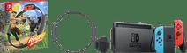 Nintendo Switch (2019 upgrade) rood/blauw + Nintendo Ring Fit