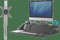 Fellowes Lotus DX Zwart + monitorarm enkel